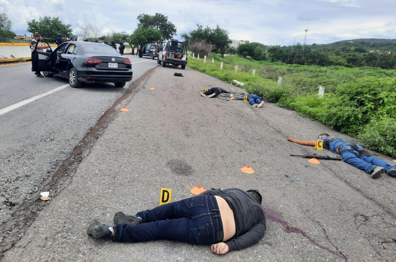 GUERRERO: CINCO CRIMINALES ABATIDOS EN BALACERA CONTRA POLICÍAS