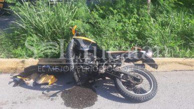 Motociclista lesionado Mérida_Sol Yucatán