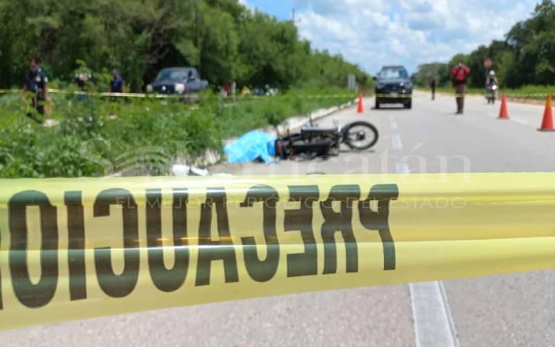 Motociclista pierde la vida en la vía Mérida – Chetumal_Sol Yucatán
